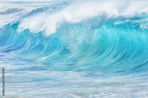 Spoed Foto op Canvas Water Turquoise waves at Sandy Beach, Hawaii