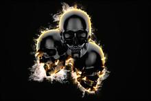 Skulls In Flame
