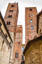 Towers Of Albenga Cathedral-Savona,Liguria,Italy