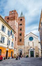 Albenga Cathedral And Square-Savona,Liguria,Italy