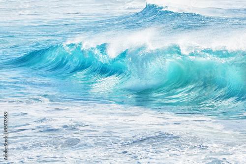 Stickers pour porte Eau turquoise waves at Sandy Beach, Hawaii