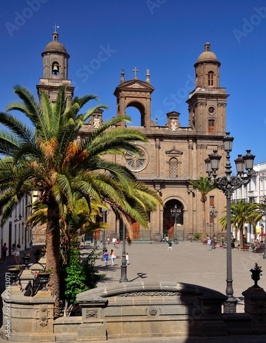 Cathedral and Santa Ana square, Las Palmas of Gran canaria, Canary islands
