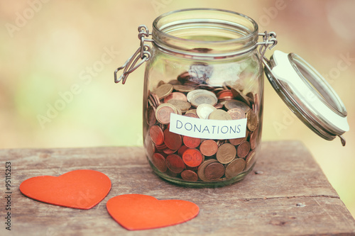 Fotografie, Obraz  Charity money jar