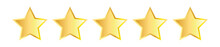 Five Golden Stars  Vector Ill...