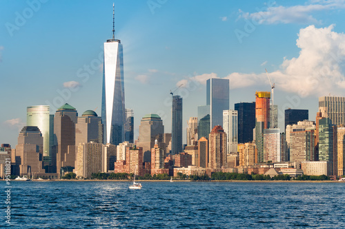 Foto op Aluminium New York The skyline of downtown Manhattan in New York City