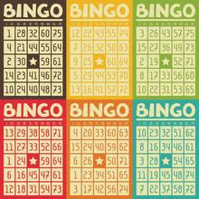 Set Of Retro  Bingo Or Lottery...