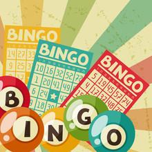 Bingo Or Lottery Retro Game Il...