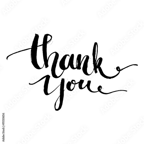 thank you vector typography design for cards t shirt posters and