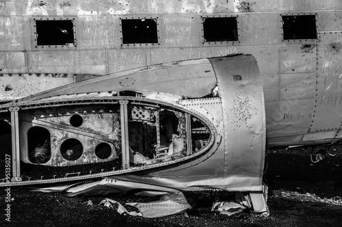 Flugzeugwrack auf Island Poster