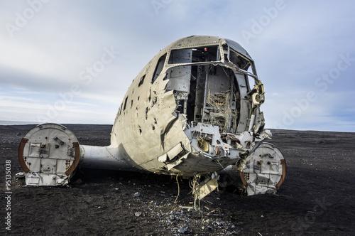 Fotografia Flugzeugwrack auf Island