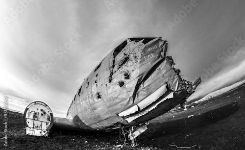 Poster Naufrage Flugzeugwrack auf Island