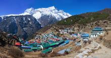 Namche Bazar In Khumbu Distri...