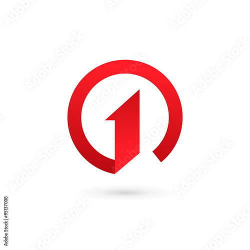 Fototapeta Number one 1 logo icon design template elements obraz