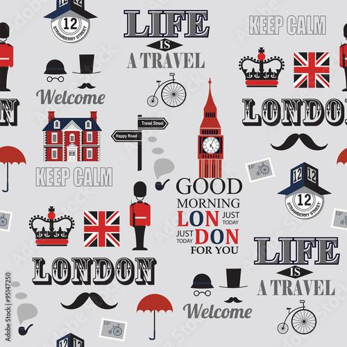 Tapety o tematyce podróżniczej bezszwowe-tlo-gazety-w-londynie