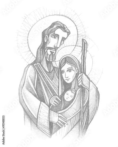 Carta da parati Sacred Family