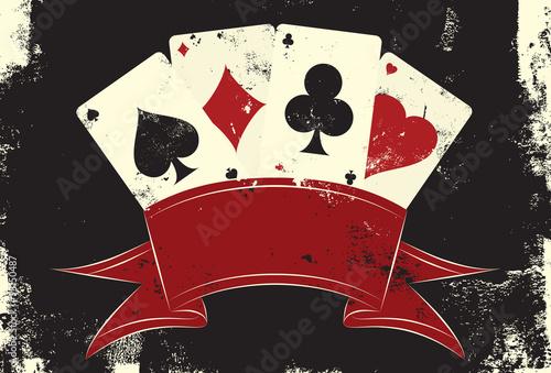 Cuadros en Lienzo Playing cards insignia