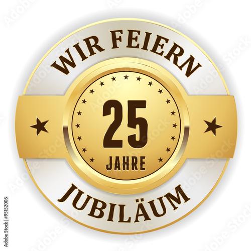 Poster  Goldener 25 Jahre Jubiläum Siegel