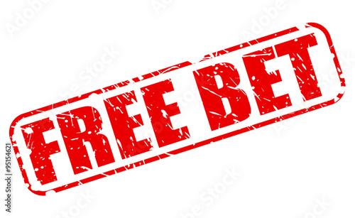 Valokuva  FREE BET red stamp text