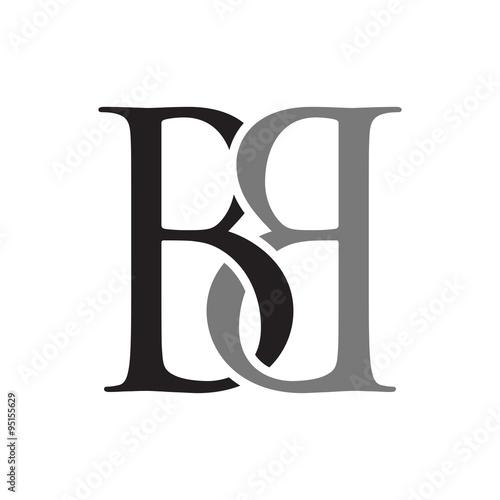 BB Initials Logo Template Canvas Print