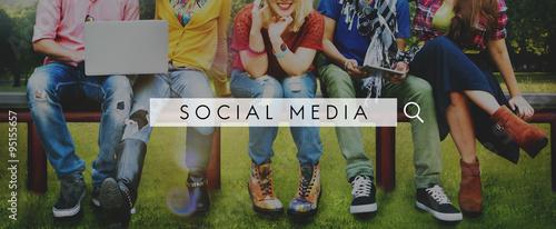 фотография  Social Media Network Web Online Internet Concept