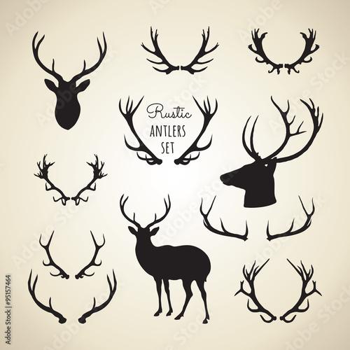 Valokuva rustic antlers set