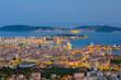 Cityscape of night Toulon