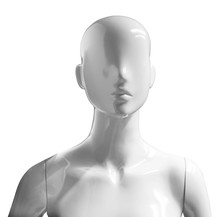 Mannequin Portrait Isolated On White Background