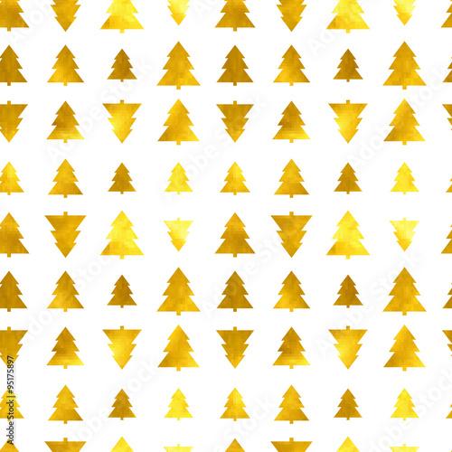 Fototapeta Christmas tree seamless background obraz na płótnie