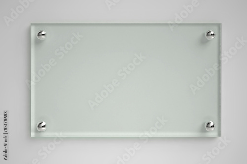 Transparent glass board
