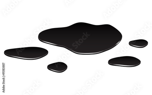 Obraz na płótnie Puddle of oil slick spill clipart
