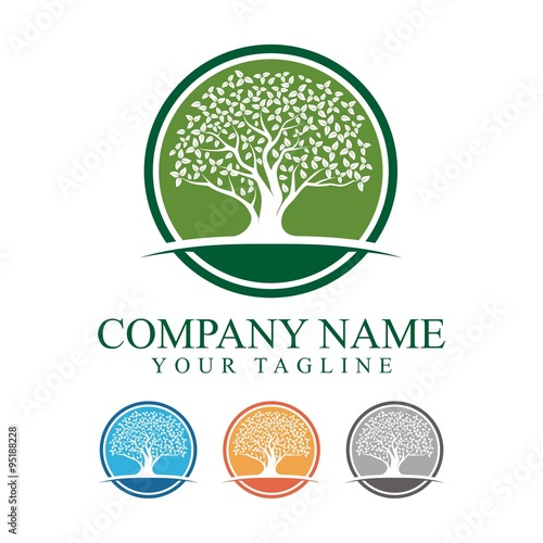 oak tree with circle logo design buy this stock vector and explore rh stock adobe com oak tree logo clip art oak tree logo vector
