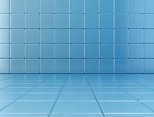 Blue Tiles Background