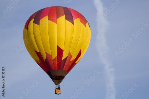 Fotografie, Obraz  One Hot Air Balloon