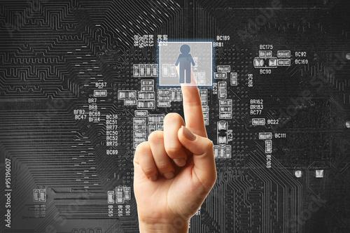 Fotografie, Obraz  Future technology concept integrates electronics and bio-technologies