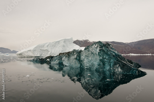 Photo  Black Ice -Scoresby Sound - Greenland
