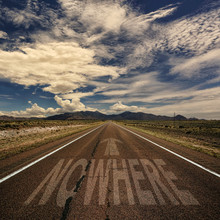 Conceptual Image Of Road With The Word Nowhere