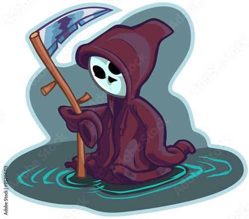 Photo  Young Grim Reaper Vector Cartoon Illustration
