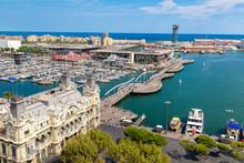 Port Vell In Barcelona, Spain