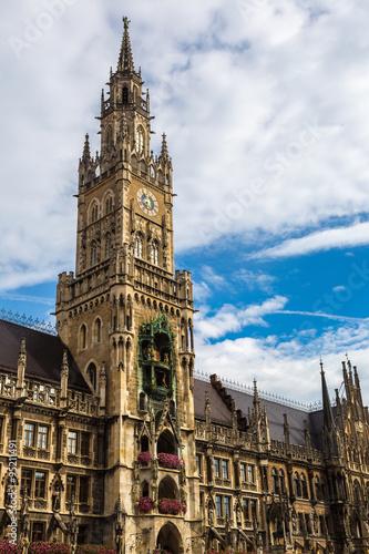 Staande foto Praag Marienplatz town hall in Munich