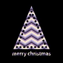 Simple Outline Christmas Tree ...