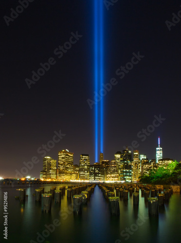 Photo  Tribute in Light. Downtown New York City