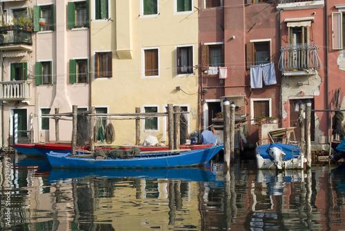 Italy, Province of Venice. Colourful ancient houses in Chioggia © Dmytro Surkov