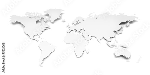 Paper world map