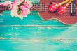 Vintage Ukulele Background