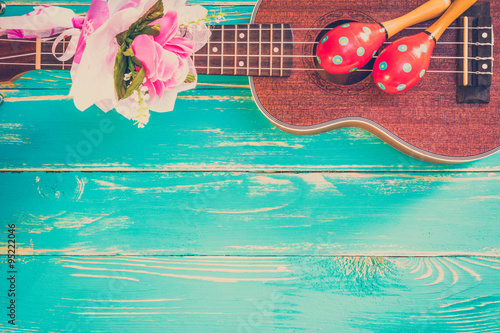 Papiers peints Retro Vintage Ukulele Background