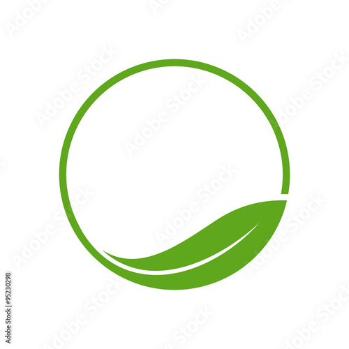 organic leaf circle simple emblem logo template buy this stock
