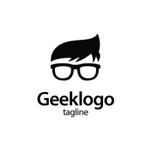 Geek And Nerd Logo Character