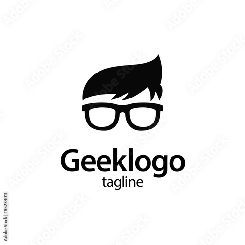 Fotomural geek and nerd logo character