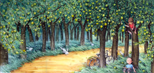 The Orchard Of Childhood - High Definition Watercolor Suited To Printing.