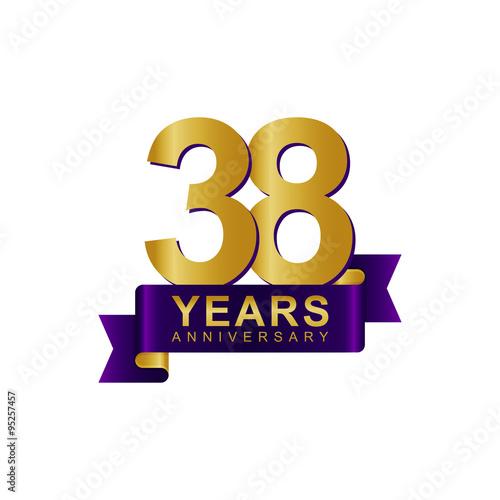 Poster Anniversary Logo Dark Purple Gold 38